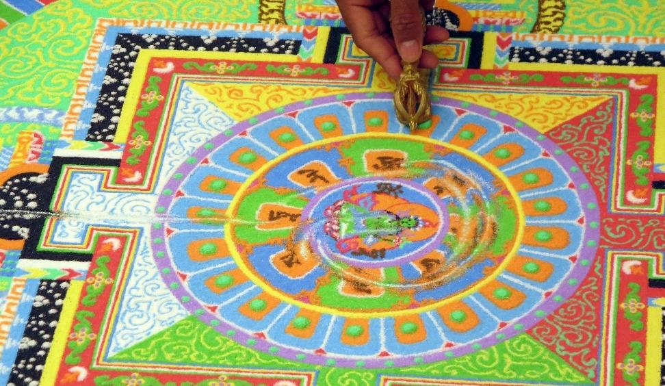Tibetan Monks Create Sand Mandala Live
