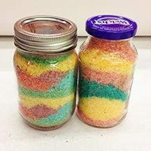 Colorful Salt Jars