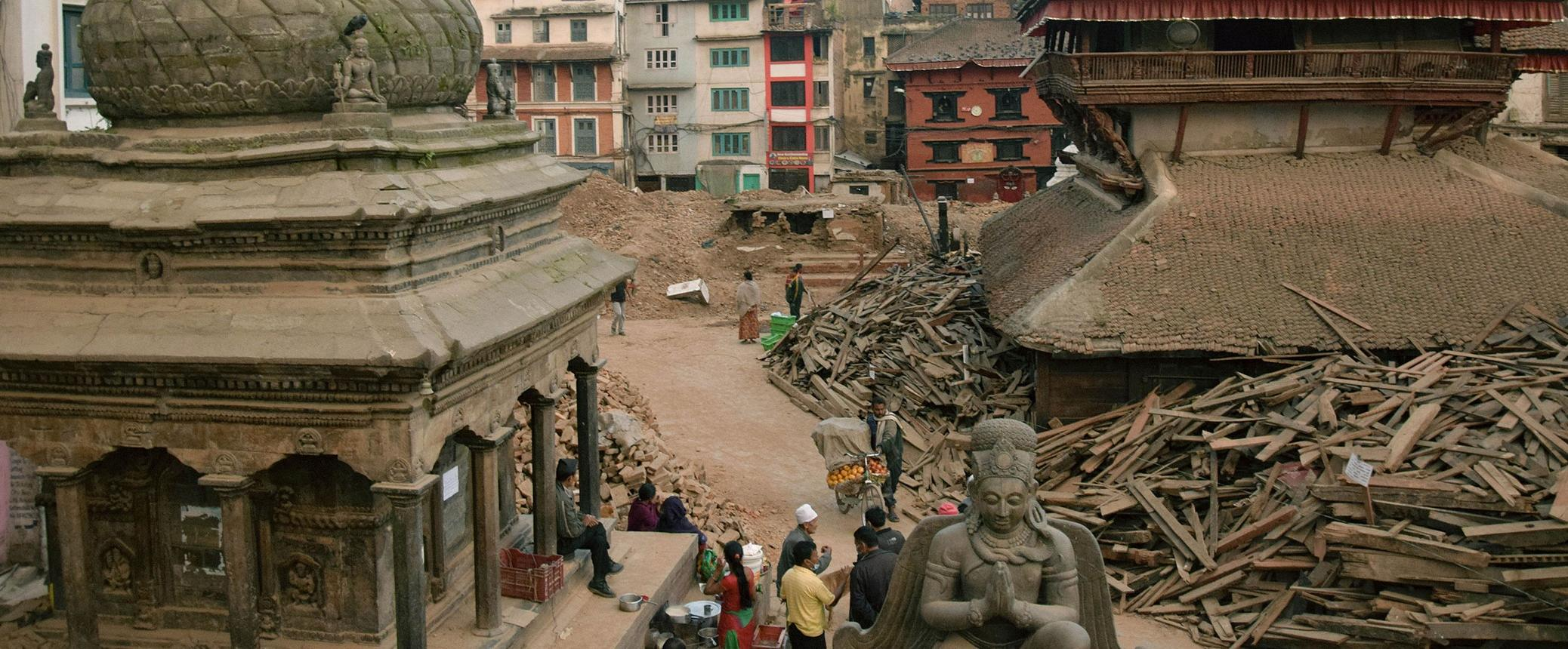 Photographs, Then and Now, from Nepal's Cultural Sites