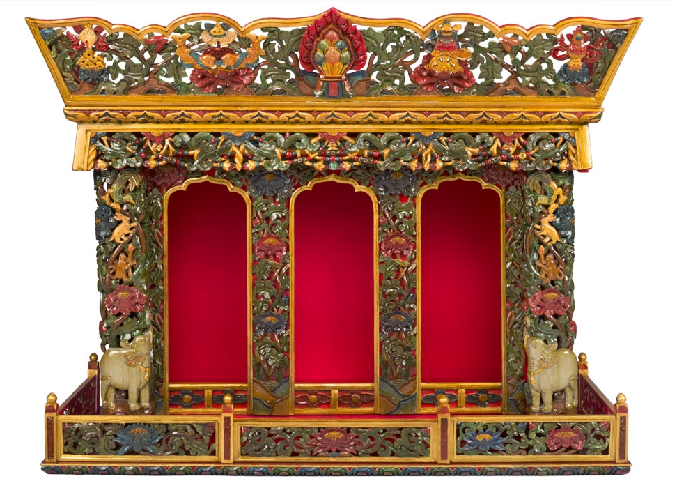 Tibetan Shrine Cabinet (Chosham)
