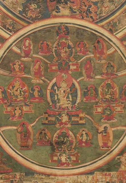 Peaceful and Wrathful Deities of the Bardo (detail of Peaceful