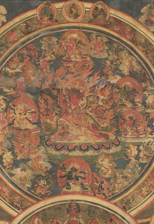 Peaceful & Wrathful Deities of the Bardo (Detail of Wrathful Deities