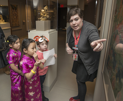 Family Day guests enjoyed guided tours of our galleries.