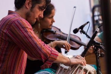 Brooklyn Raga Massive performs at the Rubin Block Party. Photo: Lyn Hughes