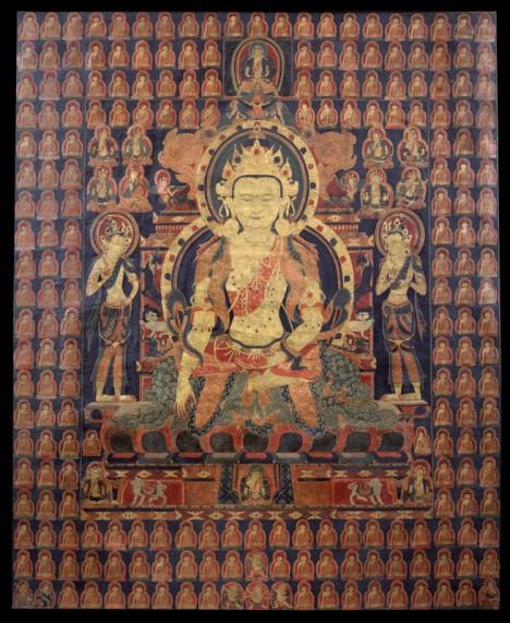 Buddha Akshobya Tibet; 14th century Pigments on cloth Rubin Museum of Art Gift of Shelley and Donald Rubin C2006.66.627