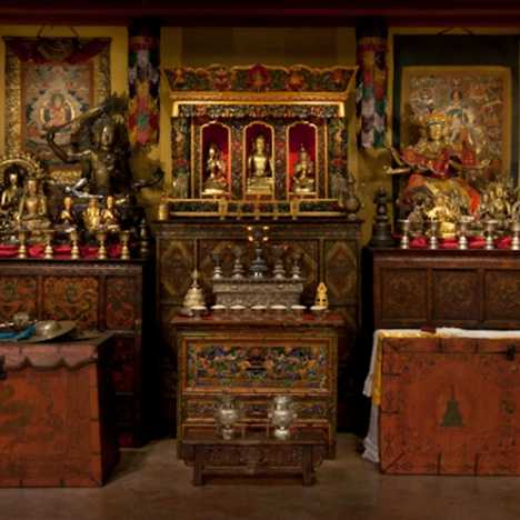 Go Inside the Tibetan Buddhist Shrine Room